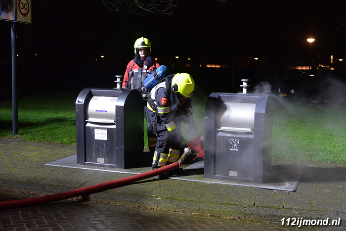 Containerbrand Leiestraat 1