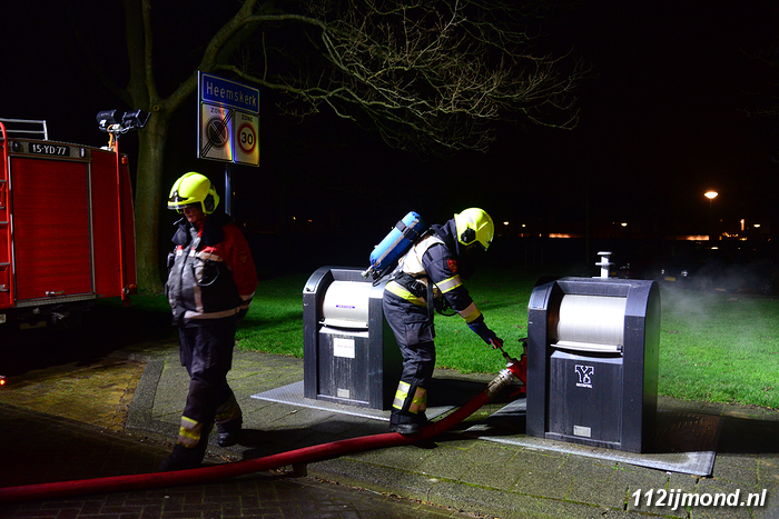 Containerbrand Leiestraat 4